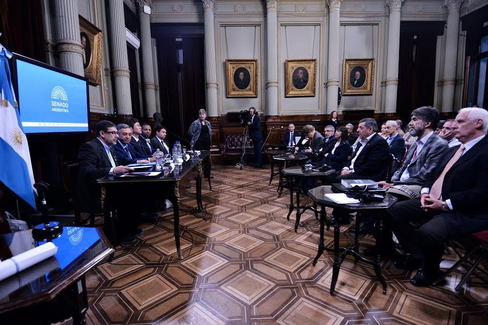 Directivos del Instituto Argentino de la PyME en el Congreso Nacional
